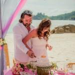 11-Strand-Hochzeitstorte
