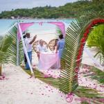 Hochzeitsarrangement Anse Lazio Praslin