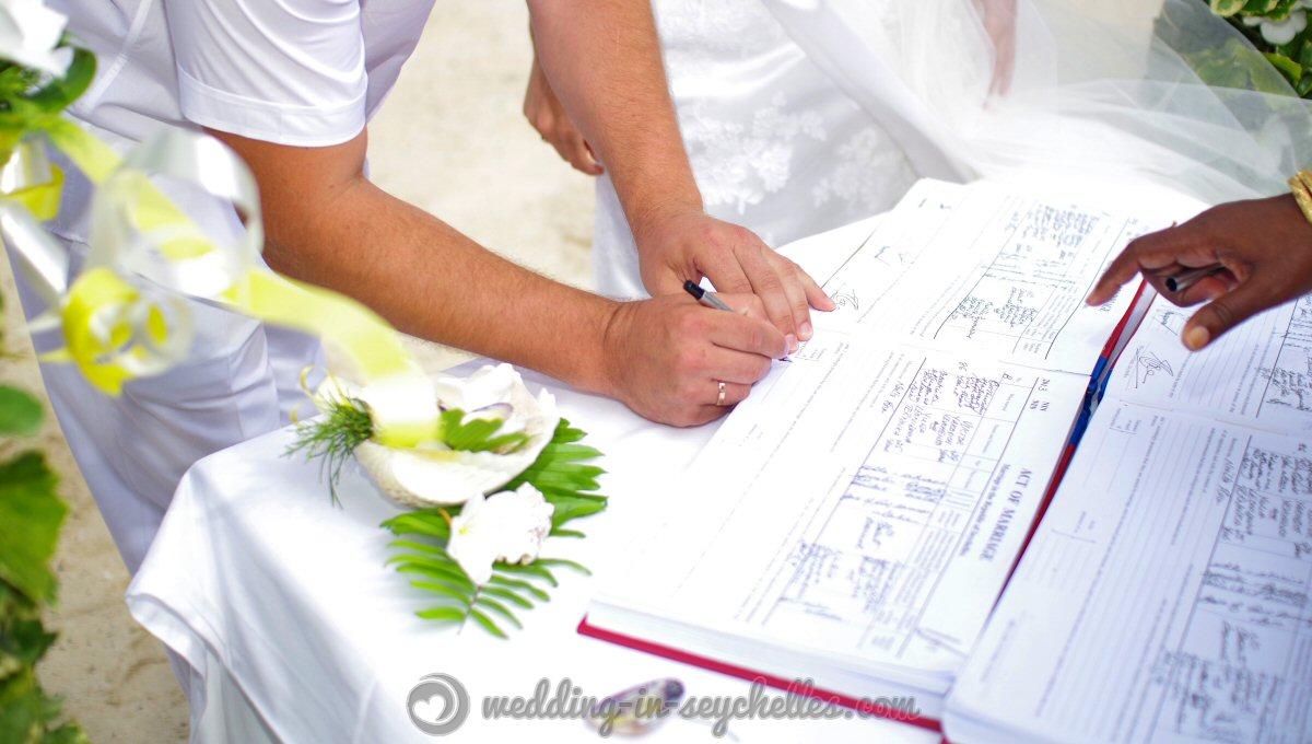 mariage lgal la plage - Photographe Mariage Seychelles